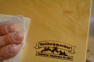 Grillplanke Servierbrett 20